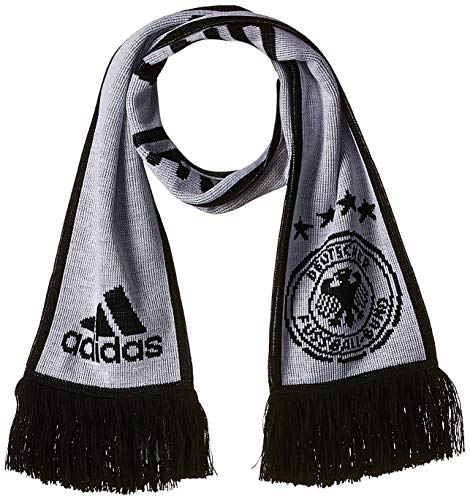 Adidas DFB H Sports Scarf, White/Black/LGH solid Grey, OSFM