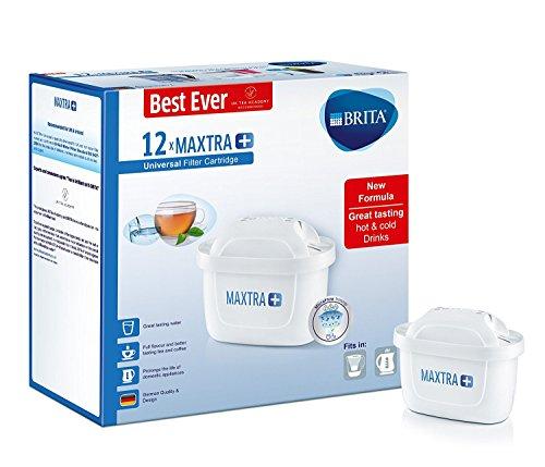 Brita Maxtra, set di cartucce filtranti, colore bianco, plastica, 12 pezzi