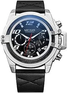 ميجير ساعة يد رجالية انالوج بعقارب ، جلد ،ML2052GBK-1