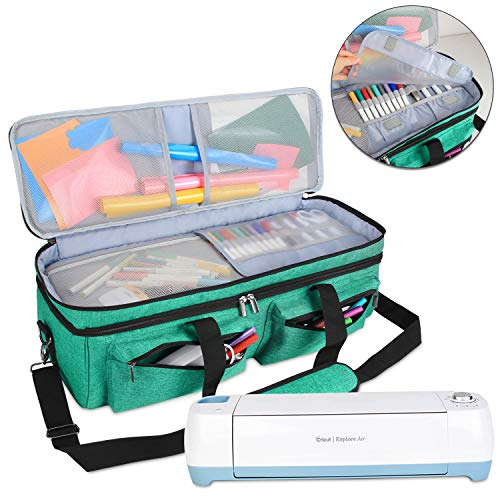 Luxja Double-Layer Bag Compatible with Cricut Explore Air (Air2) and Maker, Carrying Bag Compatible with Cricut...