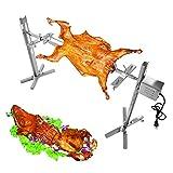 Lumemery Parrilla asador BBQ Máquina de asado Giratorio de Cordero de Pollo asador de carbón para Camping de Picnic al Aire Libre
