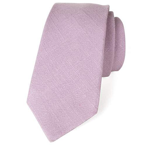 Spring Notion Men's Linen Blend Skinny Necktie Dusty Lavender