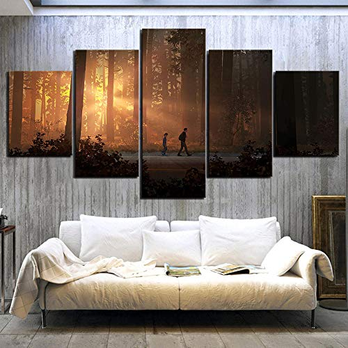 5 Piezas Life Is Strange 2 Game Poster Paintings HD Forest Paintings Landscape Wall Art for Living Room Decor 30x40 30x60 30x80cmNo Enmarcado