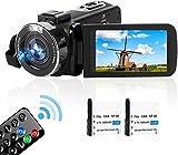 """Videocámara Cámara de Video Full HD 2.7K 42MP videocamara con Zoom Digital 18X Función de Pausa con LCD de 3.0 """"y Pantalla de rotación de 270 Grados Cámara de Video grabadora con Control Remoto"""