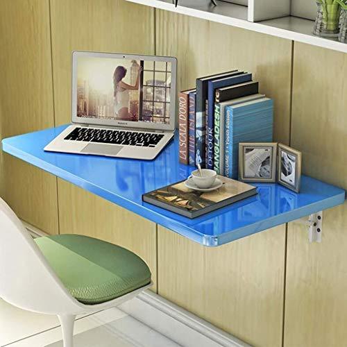 WSHFHDLC Mesa de Centro Mesas Escritorio de la computadora de Pared Colgante de Pared Minimalista Moderna Mesa pequeña Mesa de Estudio de Mesa Plegable portátil Tablas de café pequeñas (Color : Blue)