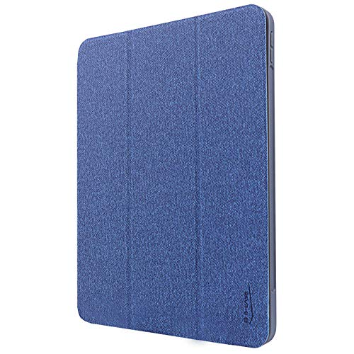 Applicable to iPad Pro12.9, 11-inch three-fold dormant smart flip leather case with pen slot-Blue 10.5 inch 2019/air3