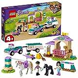 LEGO 41441 Friends Entrenamiento y Remolque Ecuestre, Juguete de Construcción para Niños +4 años con Figura de Caballo