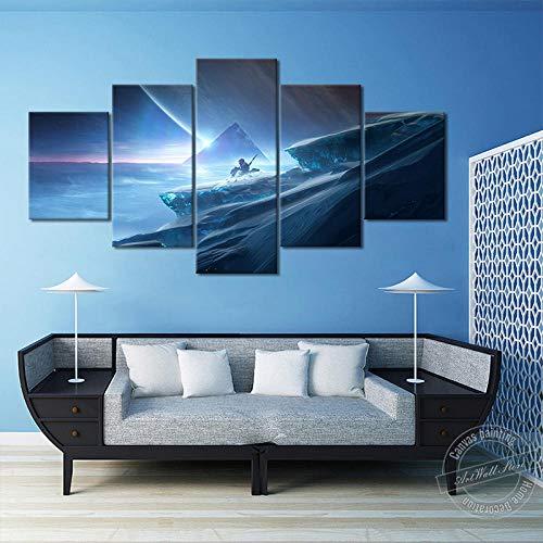 WSHIYI Destiny 2 Beyond Light, póster de Videojuego, Lienzo, Arte de Pared, Pintura, Imagen de Pared para decoración de Sala de Estar y Sala de Juegos / 30x40cm 30x60cm 30x80cm sin Marco