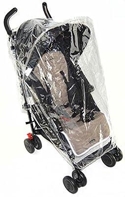 Protector de lluvia compatible con cochecito Maclaren Volo