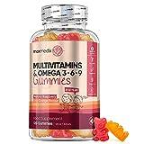 Multivitamins for Kids - 120 Chewable Gummies (2 Month Supply) - Child Vitamins with Zinc & Omega 3, 6 & 9 - Natural Raspberry & Orange Multivitamin Supplement - Non-GMO & Gluten Free Vegan Gummies