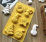 SAGIUSDM 2 stücke silikonform 6 Loch Weihnachten Serie kuchenform schneemann Santa handgemachte...