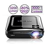Vidéoprojecteur, LESHP 3200 Lumens Projecteur Full HD 1080P Mini Projecteur Portable avec Support HDMI / VGA / AV / USB PC Ordinateur Xbox TV Idéal pour TV Home Cinéma