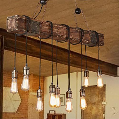AVANI EXCHANGE Vintage Holz Industrie Pendelleuchte Hängende Deckenleuchte Rustikaler Kronleuchter