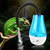 Deryang Vaporisateur Fog Maker Reptile Fogger, Brumisateur Ultra-Silencieux pour Humidificateur Reptile, Amphibiens Humidificateur Amphibiens(European regulations)