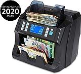 ZZap NC45 - Contador de billetes de banco con contador de valor para piezas mixtas y detector de billetes falsos