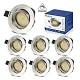 Spots Encastrables LED 5W Dimmable Interieur Plafonnier Orientable Rond Blanc Chaud...