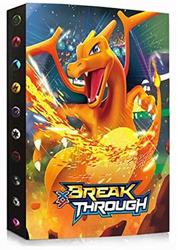 Álbum compatible con Cartas Pokemon GX EX MEGA, Aglutinante compatible con Cartas Pokemon, Carpeta de soporte de álbum de tarjetas coleccionables, Puede contener 240 tarjetas (HL-Charizard)