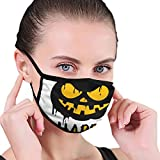 Happy Halloween with Jack O Lantern Pumpkin Washable Reusable Mouth Mask Anti Dust Half Face Mouth Mask for Men Women Dustproof with Ear Loops