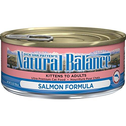 Natural Balance Ultra Premium Wet Cat Food, Salmon Formula, 5.5 Ounce Can (Pack of 24)