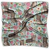 Bandanas multifuncionales unisex de chocolate Yorkshire Terrier de estilo vintage para bandanas de seda, pañuelo cuadrado de bolsillo para diadema, envoltura, cobertura protectora de 64 x 24 pulgadas