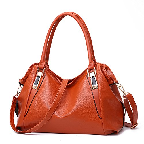 CMZ Backpack Shoulder Bag Female Bag Middle-Aged Lady Casual Fashion PU Soft Bag Messenger Handbag Messenger Bag