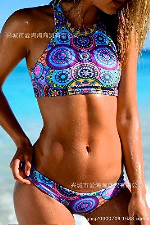 Qiusa Bikini Swim Wear Westernstempel Siamese Bikini Swim Wear, Schwimmbekleidung, Schwimmbekleidung, Schwimmbekleidung, wie in der Abbildung Gezeigt, M (Farbe   Wie Gezeigt, Größe   Einheitsgröße) B07PP4V1PD  Ausgezeichnete Leistung 1b4f03
