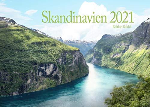 Edition Seidel Skandinavien Premium Kalender 2021 DIN A3 Wandkalender Norwegen Schweden Dänemark Island Finnland