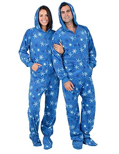 ec1342ff6 SleepytimePjs Family Matching Grey Snowflake Onesie PJs Footed Pajamas