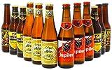 Assortiment de bières - 3 Tripel Karmeliet - 3 Cuvée des Trolls - 3 Jupiler - 3 Hertog Jan Weizener