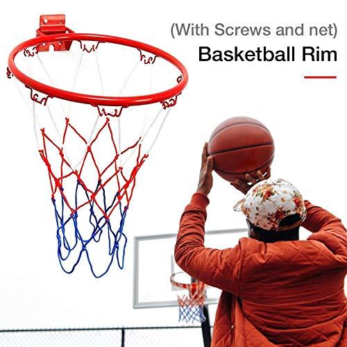 Adminitto88 Canestro da Basket A Rete da Basket Canestro da Basket A Rete con Tabellone A Grandezza Naturale E Rete da Appendere A Pallacanestro Monta