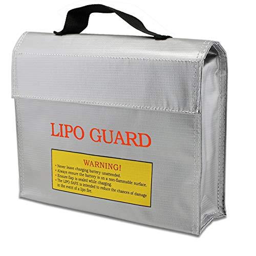 Lipo Batterie Sicherer Beutel, Feuerfeste Explosionsschutz Lipo Battery, Feuerbeständige Sicherheit Tasche, Brandschutztasche, für Aufladen und Lagerung Silber