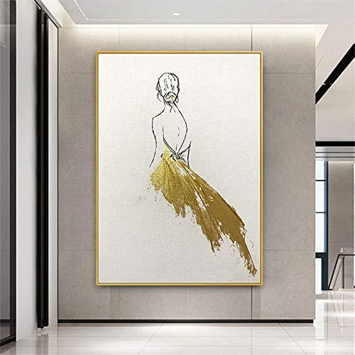 Timor Pittura Decorativa Tela Ballerina Pittura su Tela Soggiorno Camera da Letto Sala da Pranzo...