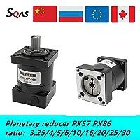 電気設備 EUの倉庫低ノイズ遊星減速PX57 PX86比3.25 / 4/5/6/10月13日/ 16/24分の20/26分の25/36分の30 Nema23 Nema34ステッピングモータ用 (Speed(RPM) : Ratio 4, Voltage(V) : PX57 for Nema23)