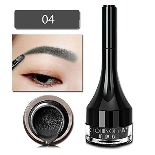 Gel de tatouage de sourcil de coussin d'air,Moreauty Kit de maquillage teinté sourcils microcarving Eye Enhancer avec des brosses (A4)