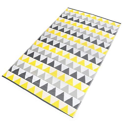 IDMarket - Tapis extérieur Sari Triangles Gris et Jaune 160x260 cm