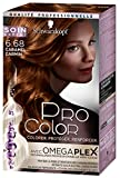 Schwarzkopf - Pro Color - Coloration Permanente Cheveux Anti-Casse - Caramel Carmin...