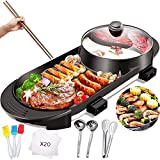 Electric Grill with Hot Pot 2 in...