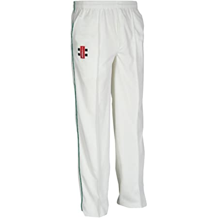 Gray-Nicolls Men's Matrix Trousers, Small, Ivory/Navy