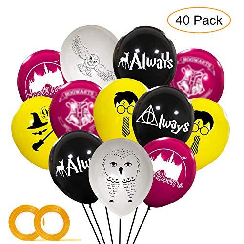 Harrys süße Potter Party Luftballons liefert magische Zauberer Schulparty Dekorationen für Kindergeburtstagsparty, 40St