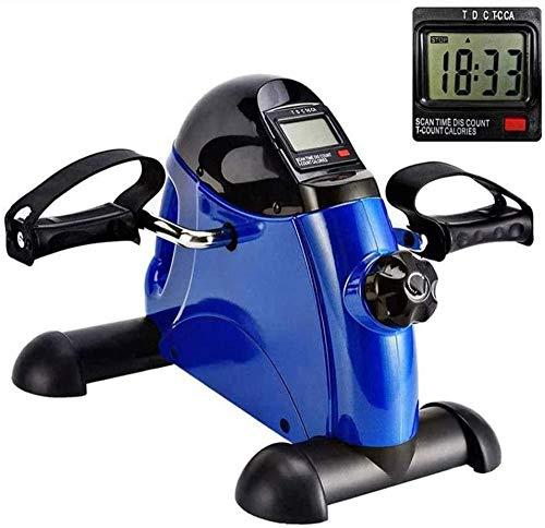 Massaggio AED Mini Over Extractor Electric Mini Trainer Esterno con display elettronico e maniglia Biciclette da fitness indoor per le persone anziane per la riabilitazione-Blu