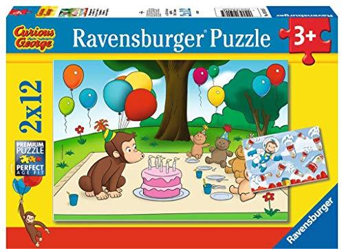 Ravensburger George Puzzle, 2 x 12 Pezzi, 05018