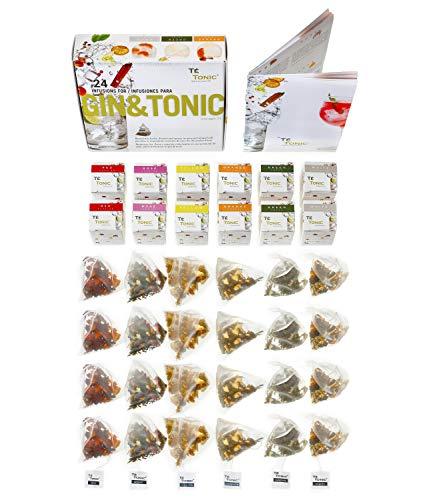 Gin Tonic Aroma Box mit 24 Geschmacks Aufgüssen - Ideales Geschenk für Gin & Tonic Cocktails mit Gewürzen & Kräutern. Ideales Gin Geschenkset