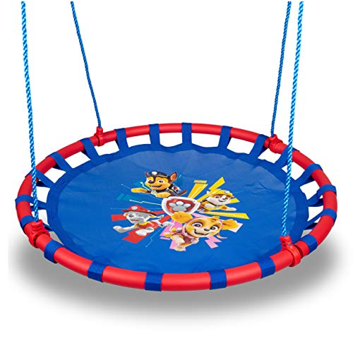 Swurfer Paw Patrol 40 Inch Saucer Swing, Holds up to 250 pounds, Ages 3 and Up