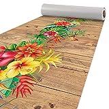 Küchenläufer Läufer Küchenteppich Flur Teppichläufer Polyester Abwaschbar Tropik 400x51cm