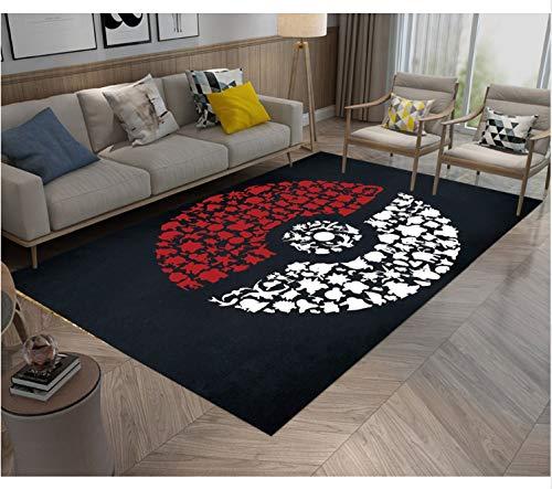 Mianbao Teppich Pokemon Go Ball Kreis Kreis Schaum Teppiche Und Für Kinder Und Baby Zu Hause Raum Raum Schlafzimmer Kissen Küche Küche Matte 80 x 120 cm