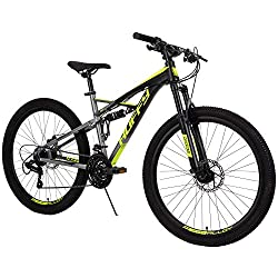 powerful HuffyOxide Men's Mountain Bike 26inch-Double Suspension