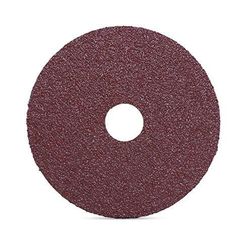 "BHA Aluminum Oxide Resin Fiber Sanding and Grinding Discs, 4.5"" x 7/8"", 120 Grit - 25 Pack"