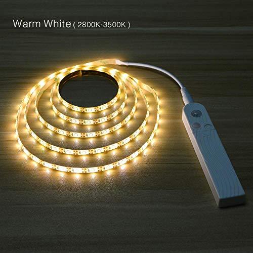 Bande LED avec détecteur de mouvement sans fil - Lampe pour placard, armoire, escaliers, couloir, avec batterie - 1 m, 2 m, 3 m