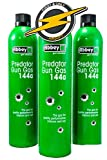First and Only Airsoft 3 x Bouteille Offre Airsoft Predator 144a gaz Vert et Patch par Abbey