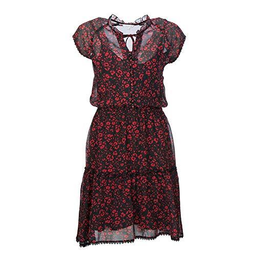 FROGBOX Damen Viskose Kleid Red Leo 895-895727 (40)